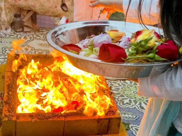 Homa fire ritual healing