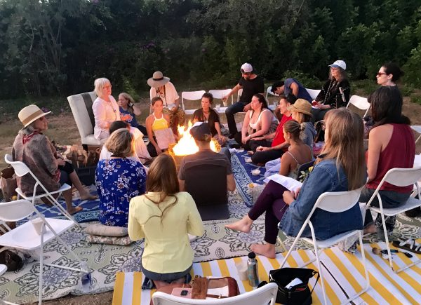 Fire homa gathering in West Los Angeles
