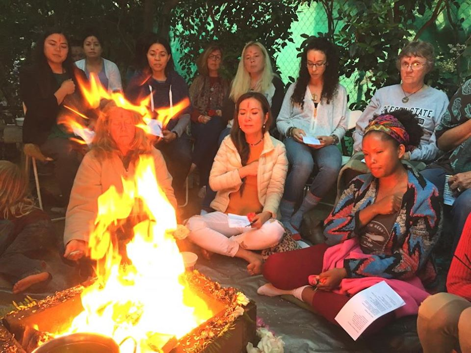 New Moon fire homa ceremony in Los Angeles