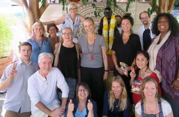 group Friday shakti/bhakti process of abisheking the Shirdi Sai Baba murthi (living embodiment) -