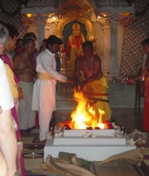 Sri Kaleshwar Fire Homa in India