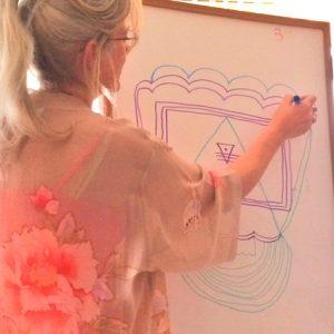womb chakra yantra drawing