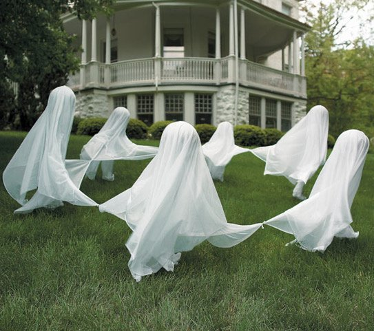 Ghosts appearing in a home