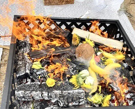 Ganesh holy fire homa to remove obstacles online ZOom and live in San Deigo home