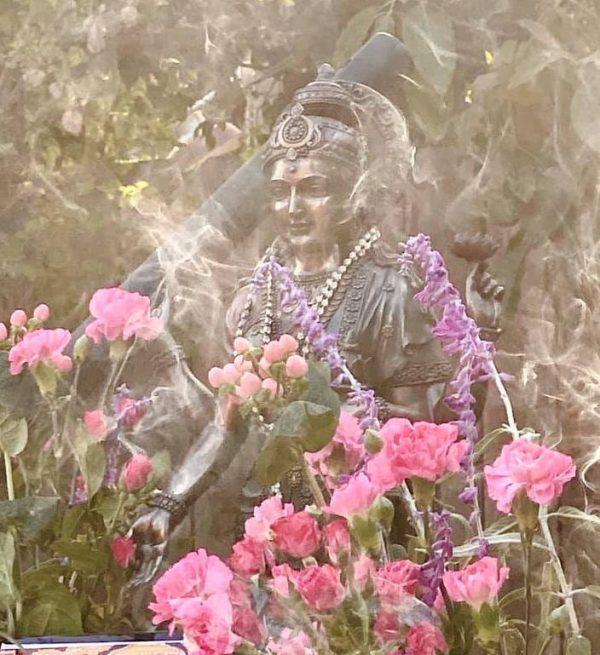 Lakshmi fire homa and flowers
